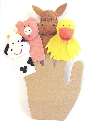 Dedoche  Animais da Fazenda - Fantoches de Dedo
