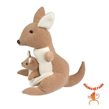Bicho de Pelúcia - Canguru com 1 Filhote