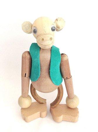 Brinquedo de madeira articulado - Macaco Chiquinho