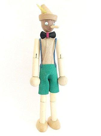 Brinquedo de madeira articulado - Pinóquio Pinokito