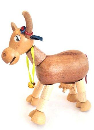 Brinquedo de madeira articulado - Vaca Letícia