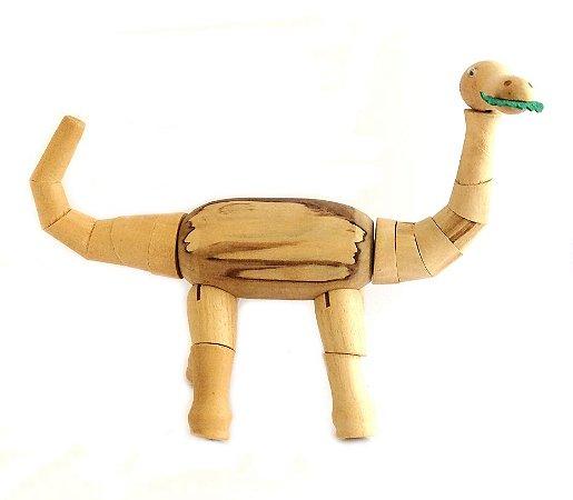 Brinquedo de madeira articulado - Titanossauro Titano