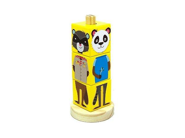 Coleção cubos animais - Amarelo
