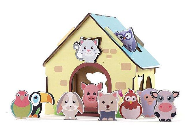 Passa figuras! Animais da fazendinha - Brinquedo Educativo