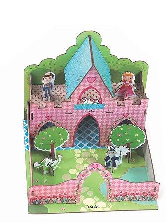 Quebra-cabeças de Madeira 3D Castelo