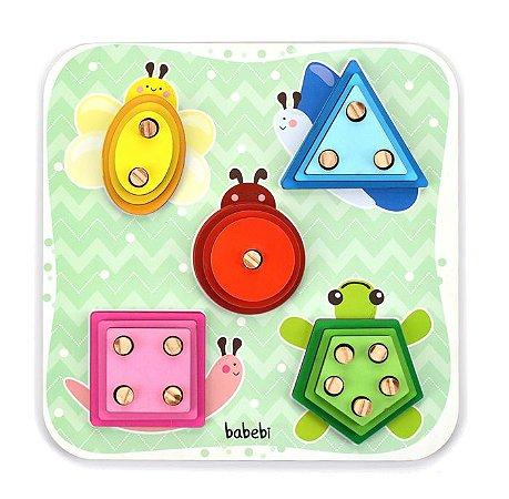 Torre de Encaixe Cores e Formas - Brinquedo Educativo