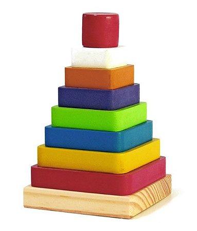 Brinquedo de Encaixe de Madeira - Pirâmide