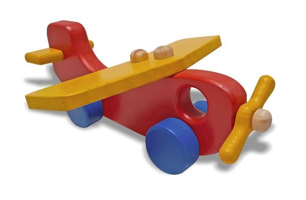 Brinquedo de Madeira - Avião Colorido