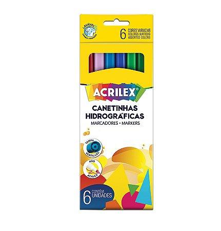 Canetinhas Hidrográficas - 6 cores