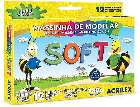 Massinha soft - 12 cores