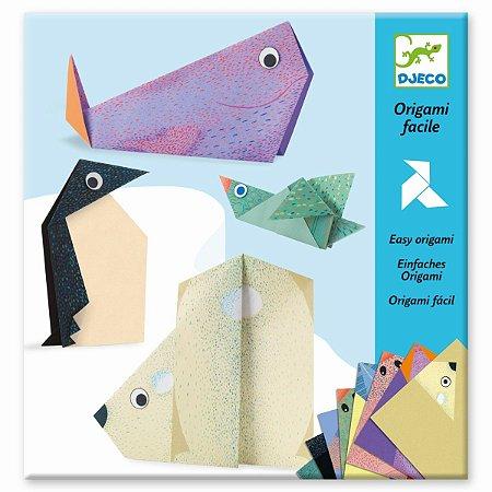 Kit Papéis para Dobradura (Origami) - Animais polares