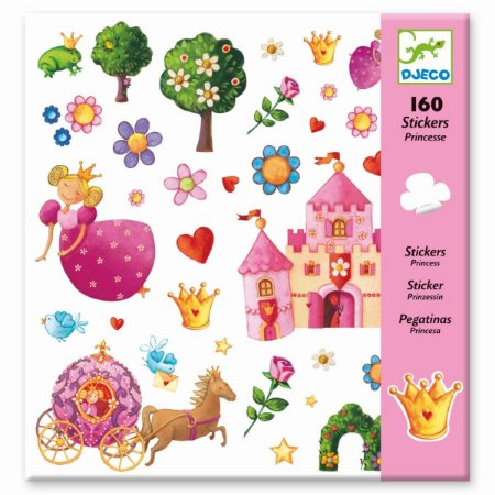 160 Adesivos - Princesa Marguerite