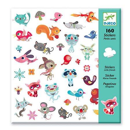 160 Adesivos Infantis - Amiguinhos