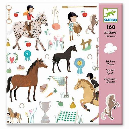 160 Adesivos Infantis - Cavalos