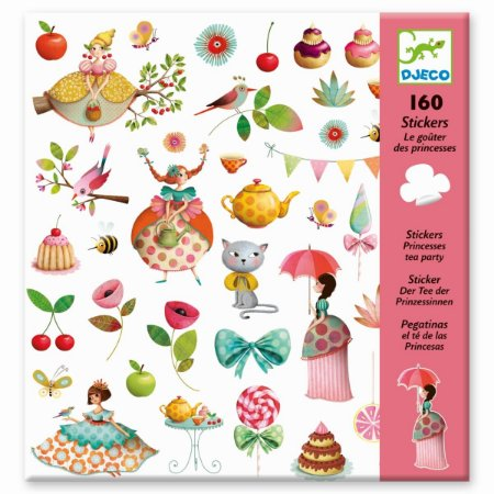 160 Adesivos Infantis - Chá de princesa
