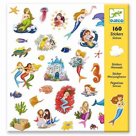 160 Adesivos - Sereias