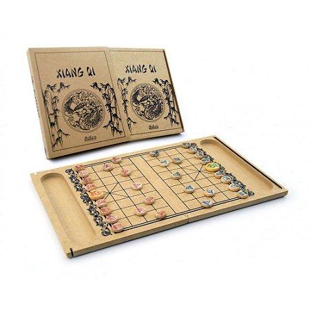 Jogo de Tabuleiro de Madeira - Xiang QI