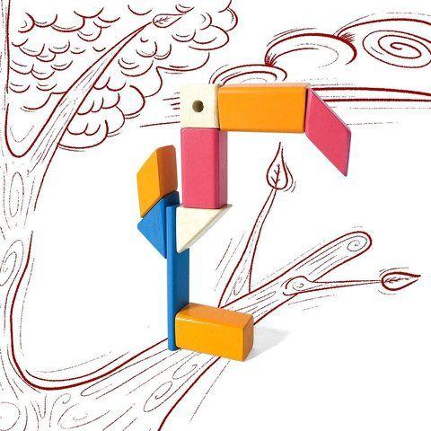 Kit Tac Plac - Blocos de Montar Magnéticos - 16 peças