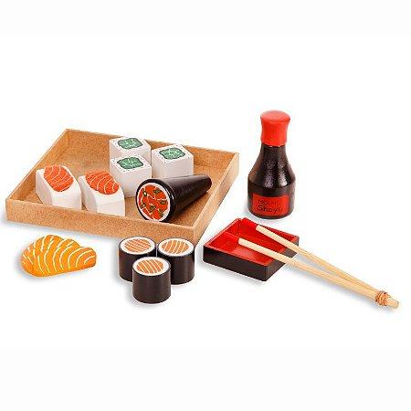 Brinquedo de Madeira- Kit Sushi