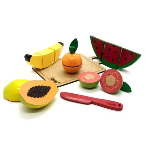 Coleção comidinhas! Kit 5 frutinhas com corte