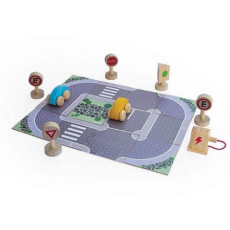 Brinquedo de Madeira - Estrada - Coleção Mundo Lume