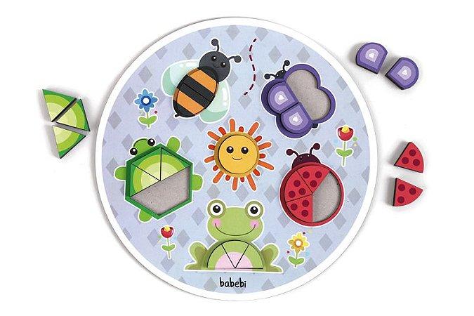 Quebra-Cabeça Jardim Progressivo - Brinquedo Educativo Babebi
