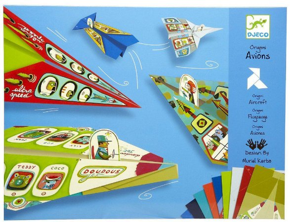 Kit Papéis para Dobradura (Origami) - Aviões