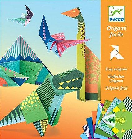 Kit Papéis para Dobradura (Origami) - Dinossauros