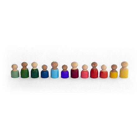 Brinquedo de Madeira - Pessoas - Inspiradas na Pedagogia Waldorf