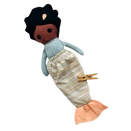 Boneca de Pano Negra - Sereia Ana