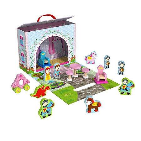 Caixa Divertida Castelo - Brinquedo Educativo de Madeira