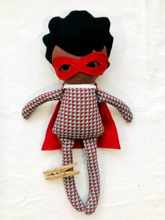 Boneco de Pano Negro - Super Theo