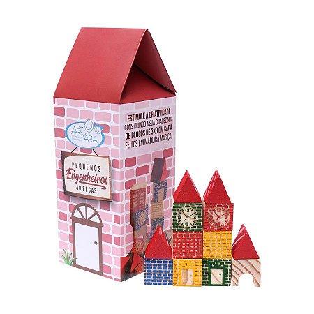 Pequenos Engenheiros - Brinquedo Educativo de Madeira