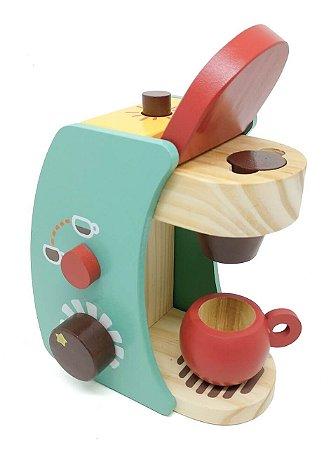 Coleção comidinhas! Kit Cafeteira cor verde