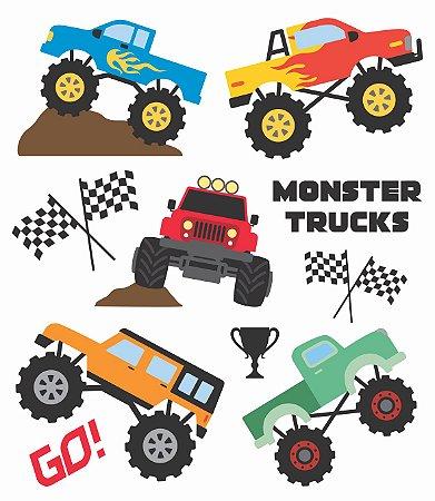 Tatuagem Temporária - Monster Trucks