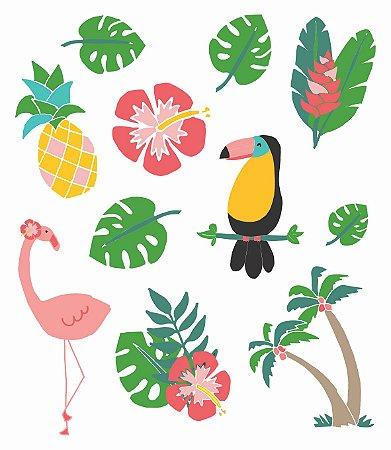 Tatuagem temporária - Tropical