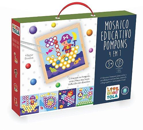 Jogo Educativo - Mosaico Pompons 4 em 1