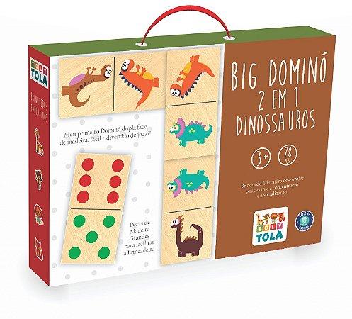 Jogo Educativo - Big Dominó 2 em 1 Tradicional / Dinossauros