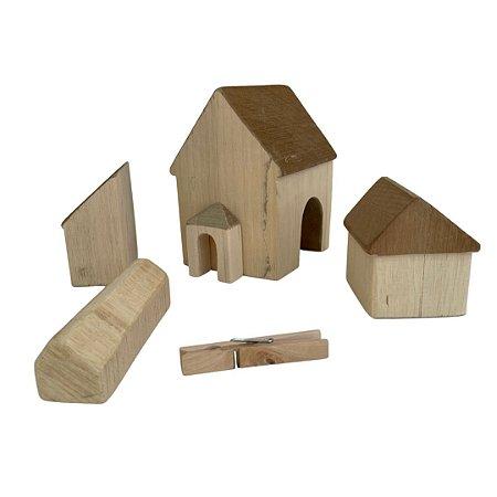 Fazenda de madeira tipo Waldorf - 5 peças