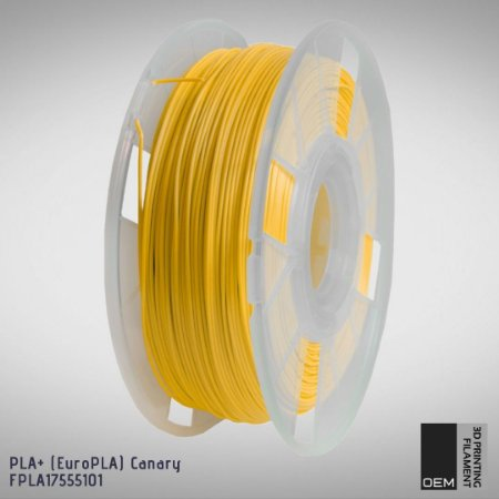 Filamento PLA+ (Euro PLA) OEM 3DPF Amarelo