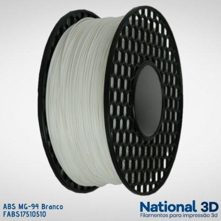 Filamento ABS MG-94 National3D Branco