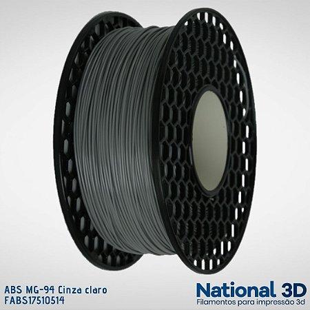 Filamento ABS MG-94 National3D Cinza claro