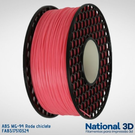 Filamento ABS MG-94 National3D Rosa chiclete