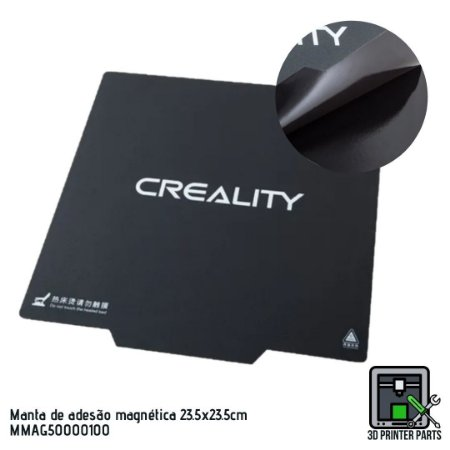 Manta de adesão magnética Creality 23.5x23.5cm