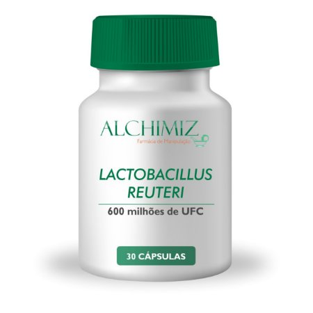 Lactobacillus reuteri 600 milhões UFC, FOS 100mg - 30 Cápsulas