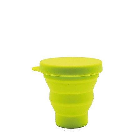 Copo Retrátil de Silicone 200 ml - Verde