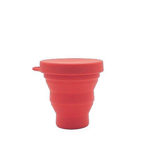 Copo Retrátil de Silicone 200 ml - Vermelho