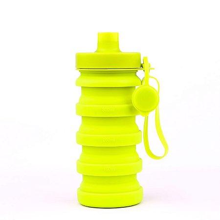 Garrafa Squeeze Retrátil de Silicone 400 ml - Verde