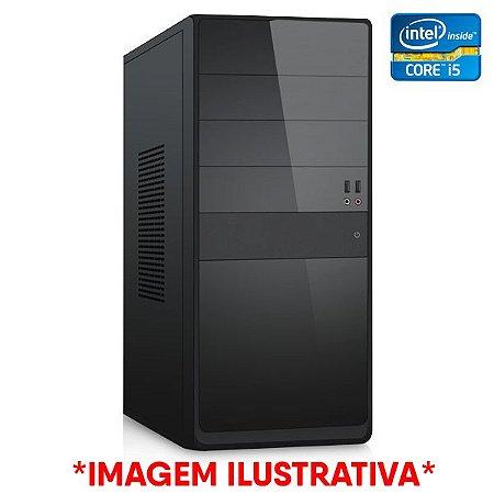 COMPUTADOR CIA CORPORATE XXV INTEL CORE I5 3330, PLACA MÃE H61, MEMORIA 4GB DDR3, SSD SATA 120GB, GABINETE BASICO PRETO