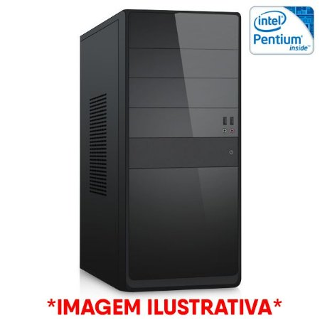 COMPUTADOR CIA CORPORATE IV, INTEL PENTIUM G2020, PLACA MÃE H61, MEMORIA 4GB DDR3, SSD SATA 240GB, GABINETE BASICO PRETO